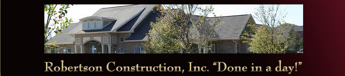 About Robertson Construction Roofing Repair and Exterior Construction Services
