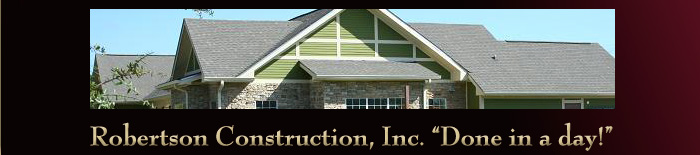 Contact Robertson Construction Roofing Repair and Exterior Construction Services