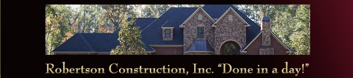 Robertson Construction Inc (RCI) specializes in fast and reliable hurricane, hail and tornado storm damage repair.
