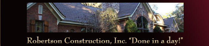 Robertson Construction Roofing Repair and Exterior Construction Services